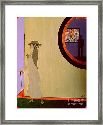 Framed Print featuring the painting F Scott Waiting For Zelda by Bill OConnor