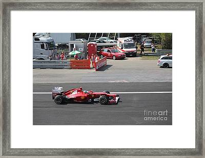 F1 - Fernando Alonso  -  Ferrari Framed Print by David Grant