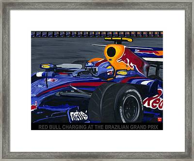 F1 Rbr At The Brazilian Grand Prix Framed Print