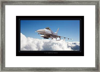 F16 Fighting Falcon Framed Print by Larry McManus