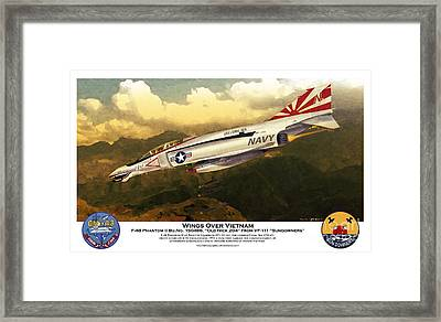 F4-phantom Wings Over Vietnam Framed Print