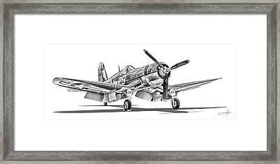 F4u Corsair Framed Print by Dale Jackson
