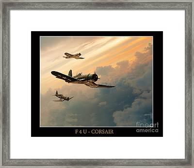 F4u-corsair Framed Print by Tony Pierleoni