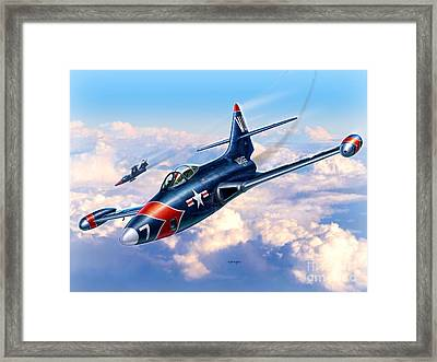 F9f-5p Photo Panthers Framed Print by Stu Shepherd