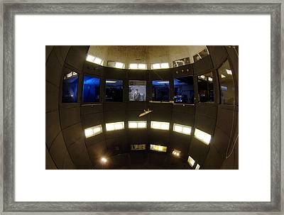 Fa-22 Raptor Model In Wind Tunnel Framed Print