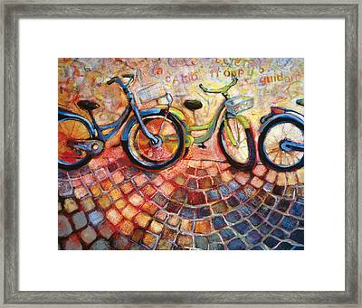Fa Caldo Troppo Guidare Framed Print by Jen Norton