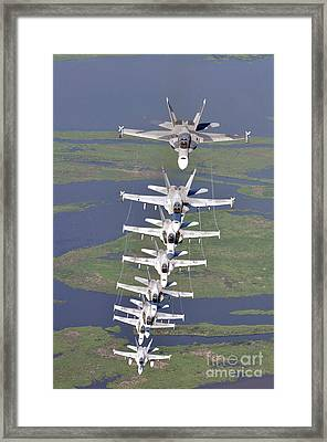 Fa18 Hornets Assigned The River Rattlers Framed Print by Paul Fearn