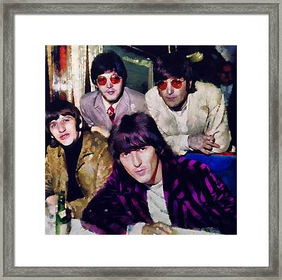 Fab Four Framed Print by Janice MacLellan
