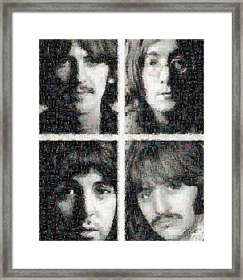 Fab Four Mosaic Image 1 Framed Print