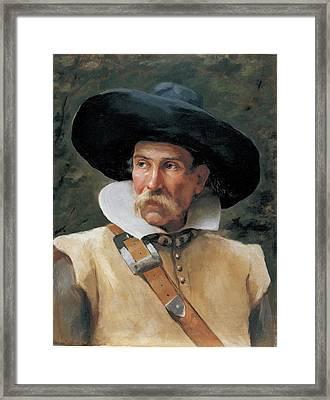 Fabbri Paolo Egisto, Portrait Of A Man Framed Print by Everett