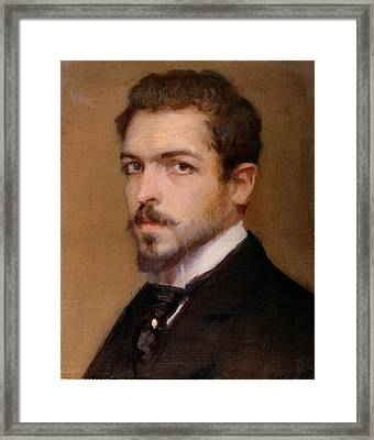 Fabbri Paolo Egisto, Self-portrait Framed Print by Everett