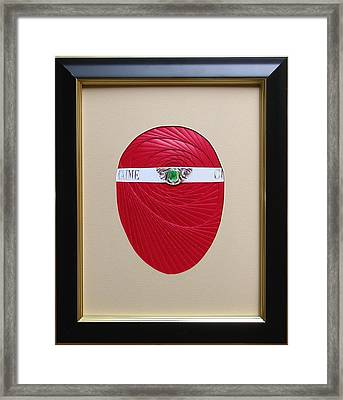 Framed Print featuring the mixed media Faberge Egg 1 by Ron Davidson