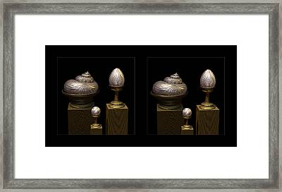 Faberge Style White Gold 3d Framed Print