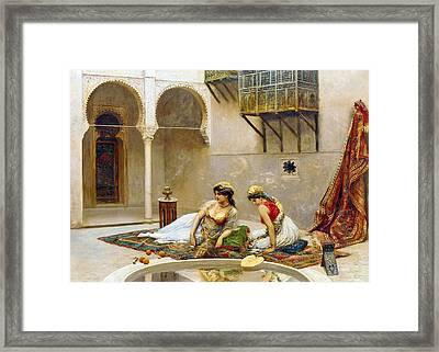 Fabio Fabbi Harem Relaxing Framed Print by Munir Alawi