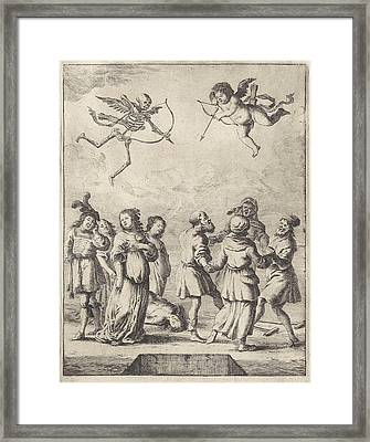 Fable Of Cupid And Death, Dirk Stoop, John Ogilby Framed Print