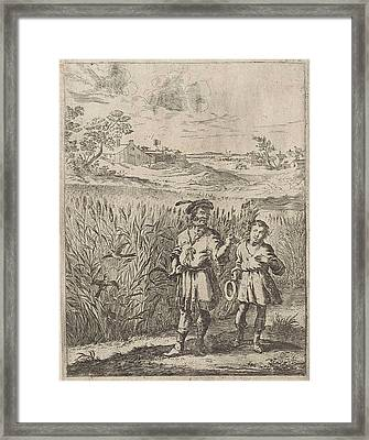 Fable Of The Lark And Her Boy, Print Maker Dirk Stoop Framed Print by Dirk Stoop And John Ogilby