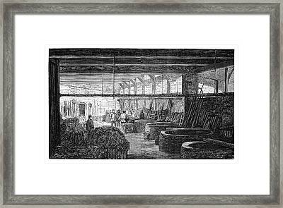 Fabric Boiling House Framed Print