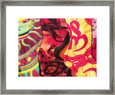 Fabric Collision Framed Print by Alec Drake