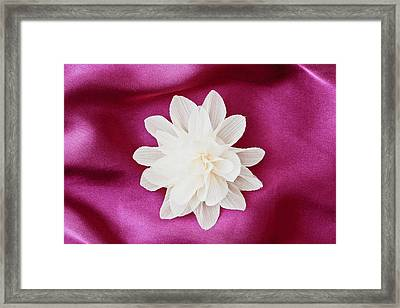 Fabric Flower Framed Print