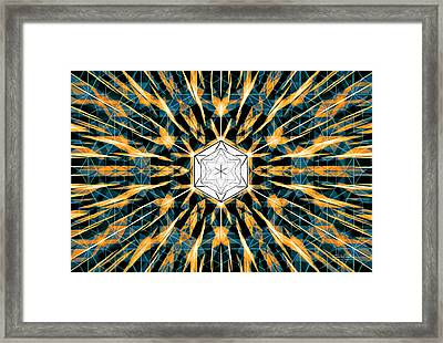 Framed Print featuring the drawing Fabric Of The Universe by Derek Gedney