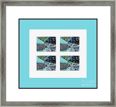 Fabric Swatches Turquoise Border Framed Print by Barbara Griffin