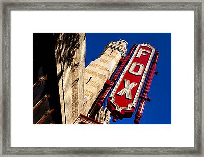 Fabulous Fox In Atlanta Framed Print