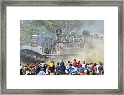 Fabulous Hovercraft Opsail 2012 Framed Print by Marianne Campolongo