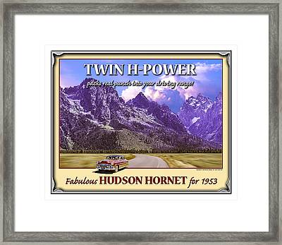Fabulous Hudson Hornet For 1953 Framed Print