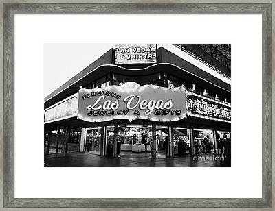 fabulous las vegas jewelry and gifts freemont street Nevada USA Framed Print