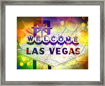 Fabulous Las Vegas Framed Print by Michelle Dallocchio