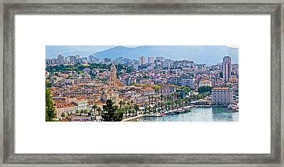 Fabulous Split Waterfront Aerial Panorama Framed Print