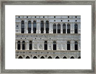 Facade At Doges Palace Courtyard Framed Print