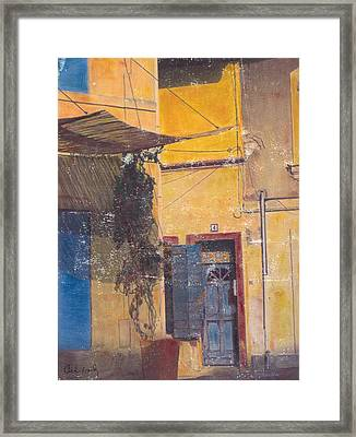 Framed Print featuring the mixed media Facade by Carla Woody