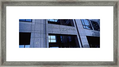 Facade Of A Bank Building, Federal Home Framed Print by Panoramic Images