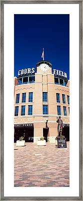 Facade Of A Baseball Stadium, Coors Framed Print by Panoramic Images