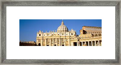Facade Of A Basilica, St. Peters Framed Print