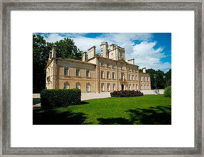 Facade Of A Building, Chateau Davignon Framed Print by Panoramic Images