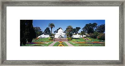Facade Of A Building, Conservatory Framed Print by Panoramic Images