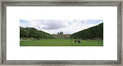 Facade Of A Building, Ecole Militaire Framed Print by Panoramic Images