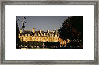 Facade Of A Building, Place Des Vosges Framed Print by Panoramic Images