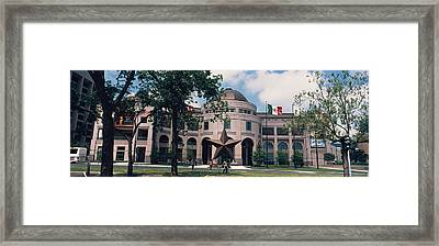 Facade Of A Building, Texas State Framed Print by Panoramic Images