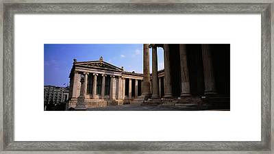 Facade Of A Building, University Of Framed Print by Panoramic Images