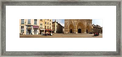 Facade Of A Cathedral, St. Jean Framed Print