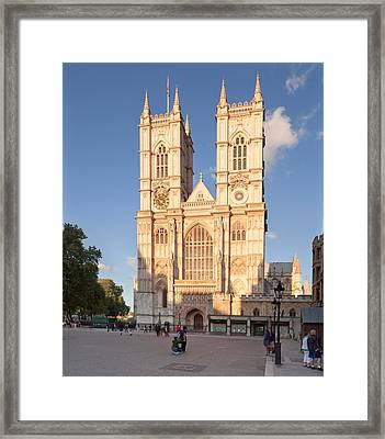 Facade Of A Cathedral, Westminster Framed Print by Panoramic Images