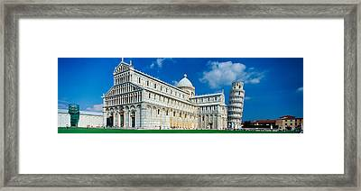 Facade Of A Cathedral With A Tower Framed Print by Panoramic Images