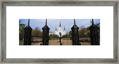 Facade Of A Church, St. Louis Framed Print by Panoramic Images