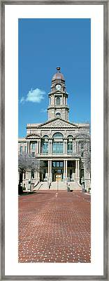 Facade Of A Courthouse, Tarrant County Framed Print by Panoramic Images