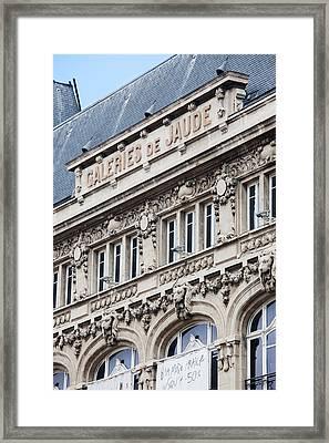 Facade Of A Department Store, Place De Framed Print