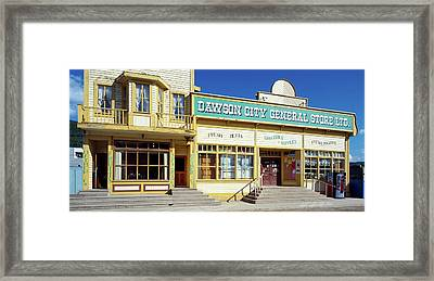 Facade Of A General Store, Dawson Framed Print by Panoramic Images
