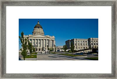 Facade Of A Government Building, Utah Framed Print by Panoramic Images